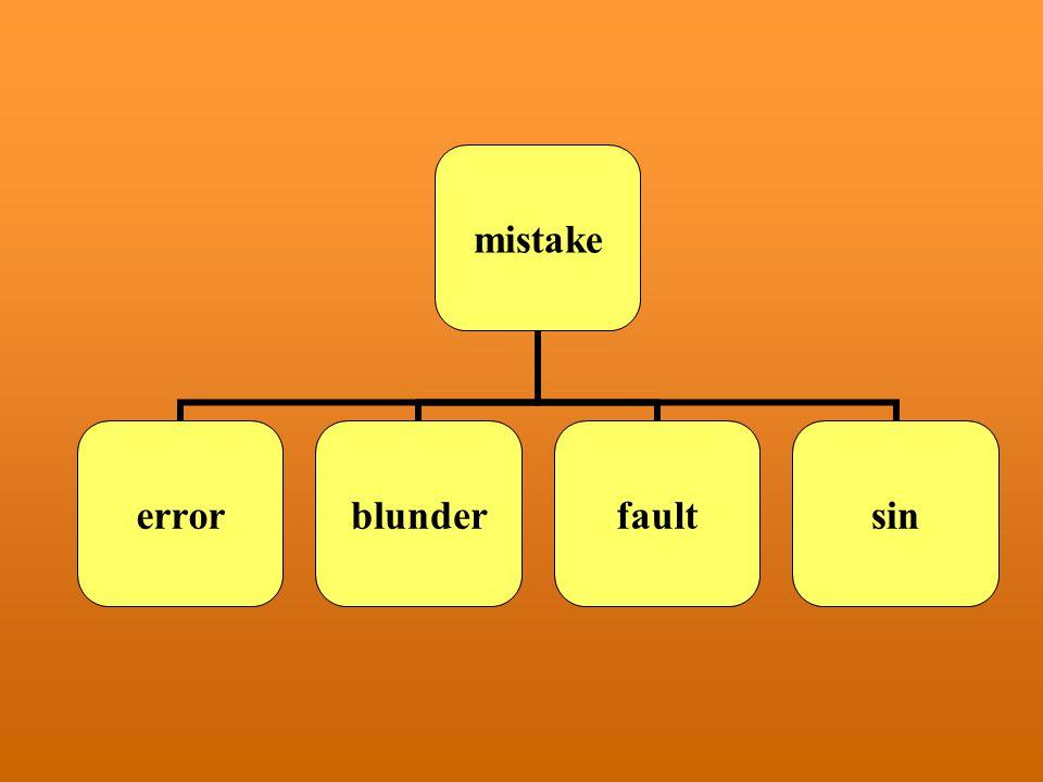mistake errorblunderfaultsin
