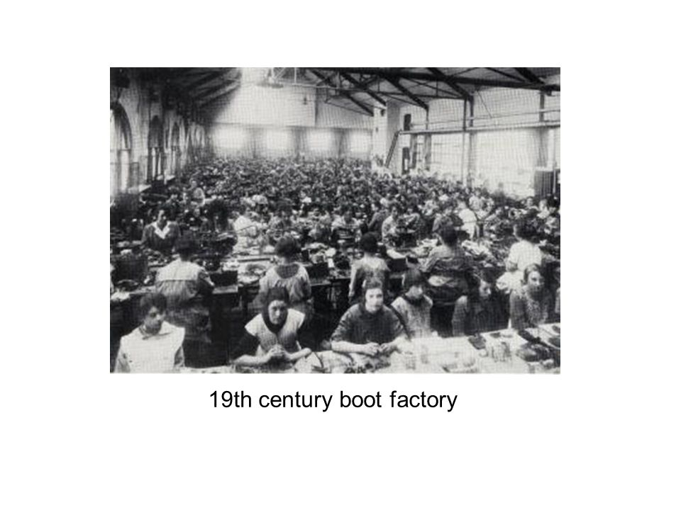 19th century boot factory