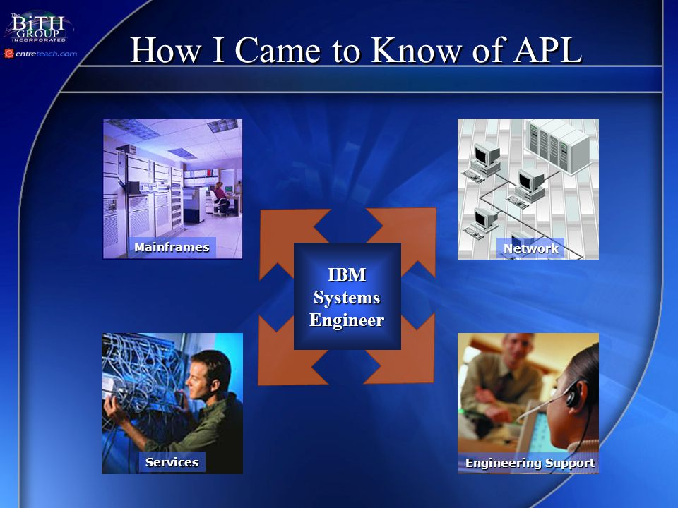 How I Came to Know of APL IBMSystemsEngineer Mainframes Services Engineering Support Network