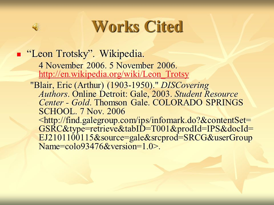 Background Info.