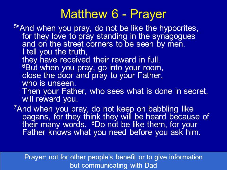 Matthew 6 - Prayer 5