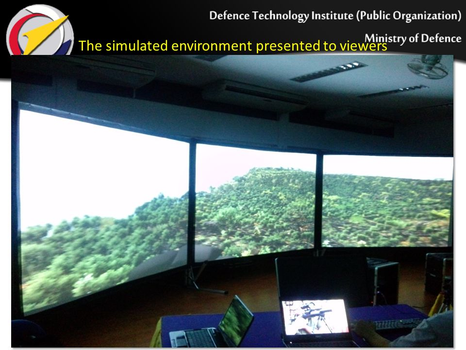The simulated environment presented to viewers