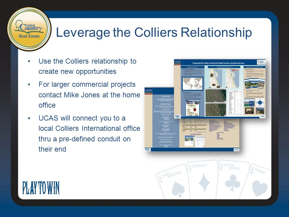 Leverage the Colliers Relationship Use the Colliers relationship to create new opportunities For larger commercial projects contact Mike Jones at the