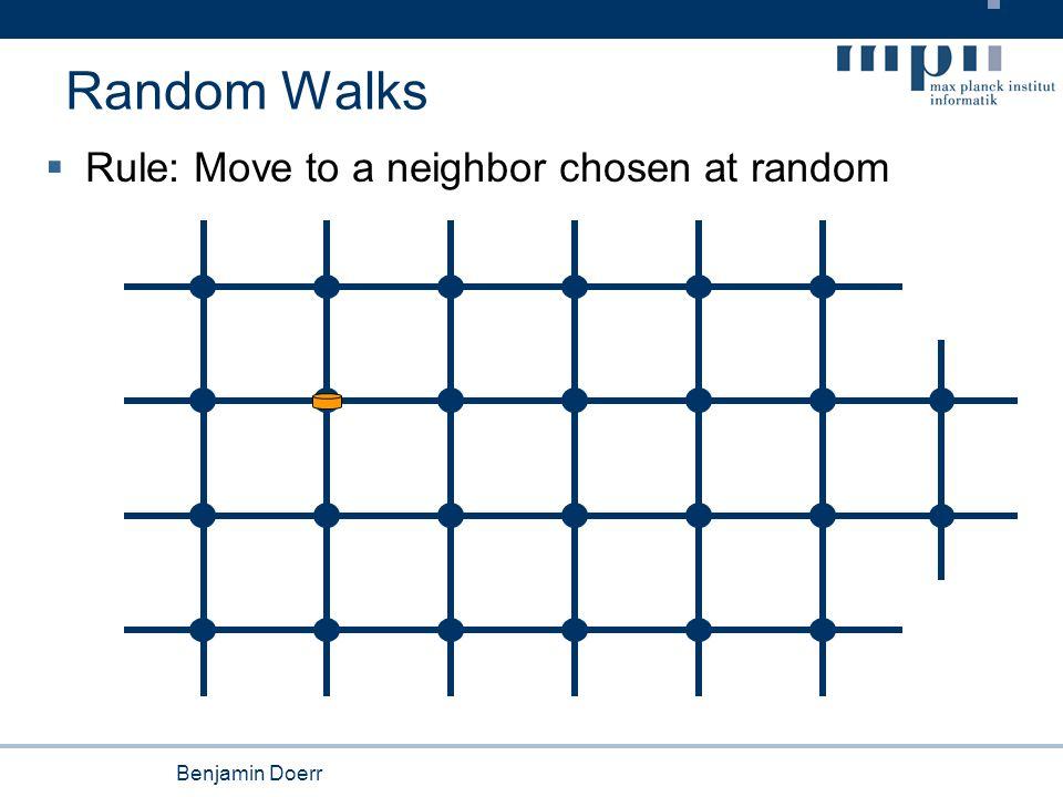 Benjamin Doerr Random Walks  Rule: Move to a neighbor chosen at random