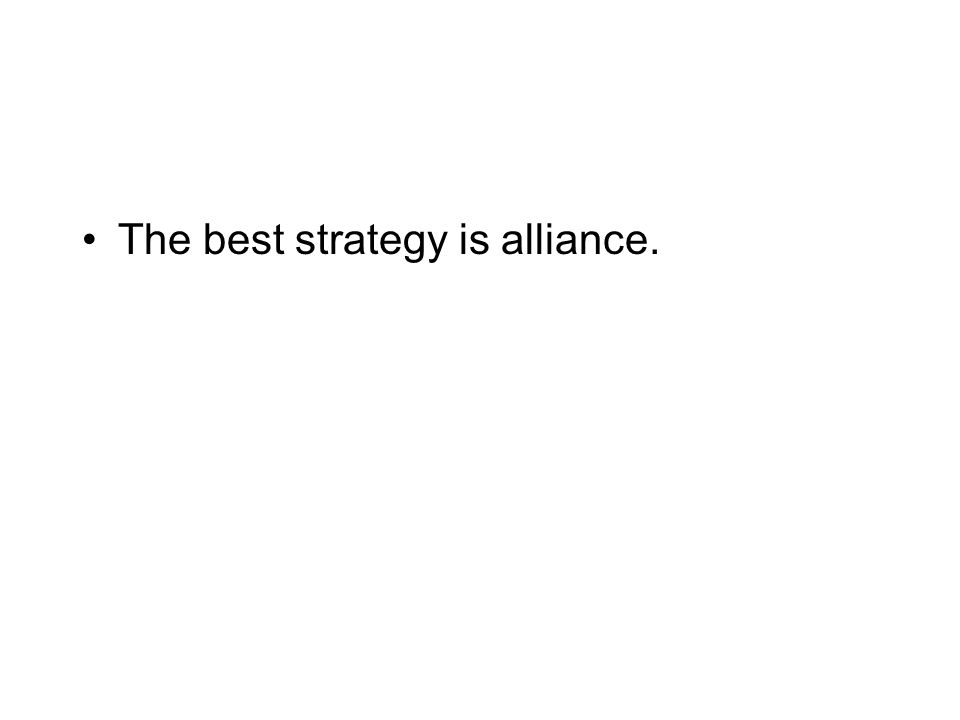 The best strategy is actually not to cooperate.