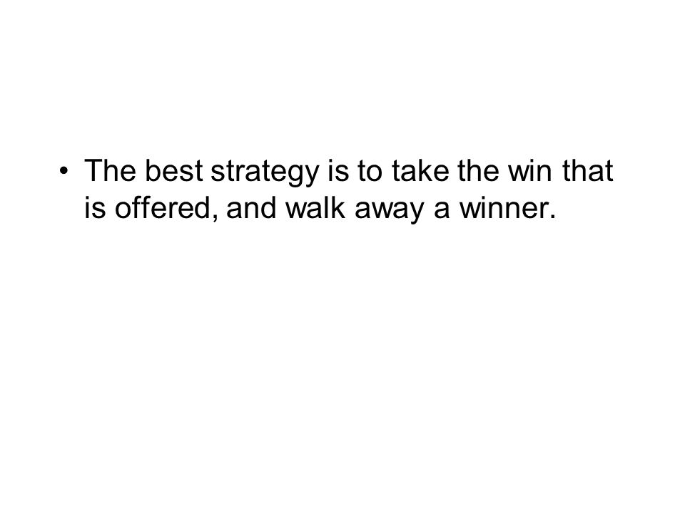 The best strategy is to just run your own race .