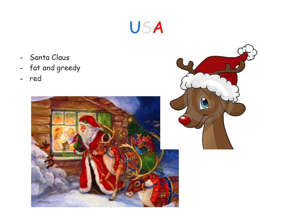 USAUSA - Santa Claus - fat and greedy - red