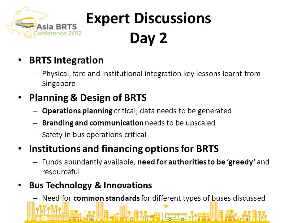 BRTS Cities- Day 2 Lagos BRT System – Capacity development of informal sector; Avg.