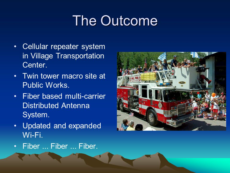 The Outcome Cellular repeater system in Village Transportation Center.