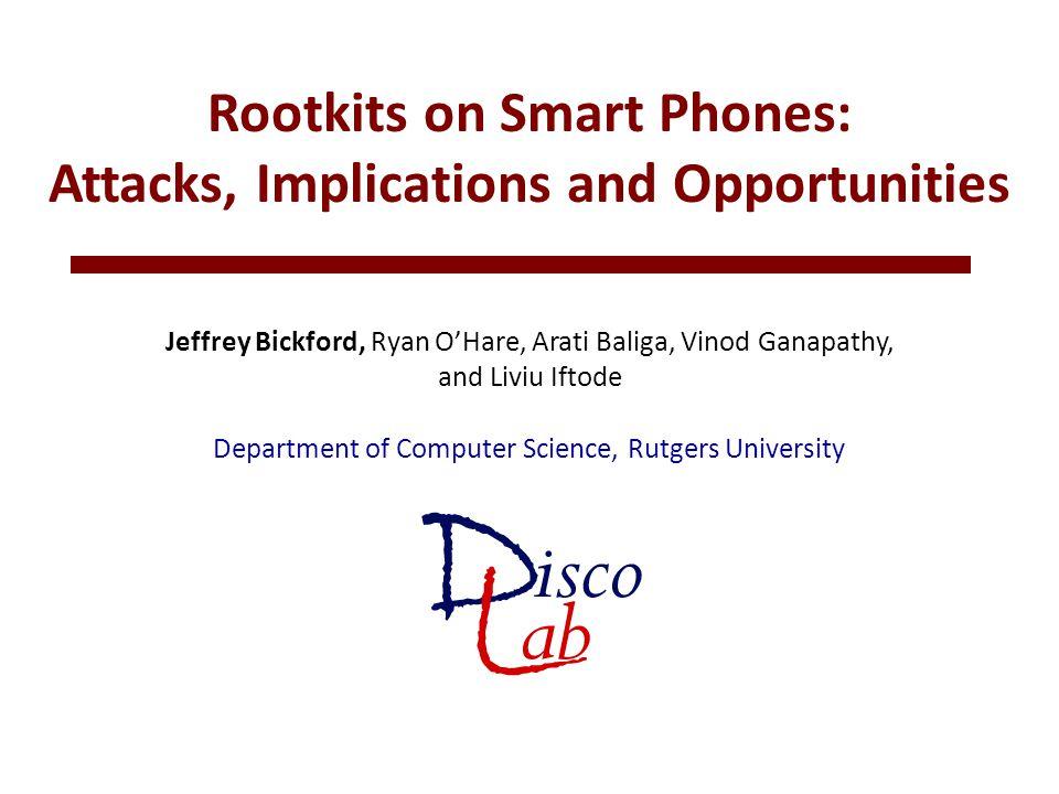 7 The Rise of Mobile Malware 2004 Cabir spreads via Bluetooth drains battery Receive message via Bluetooth.