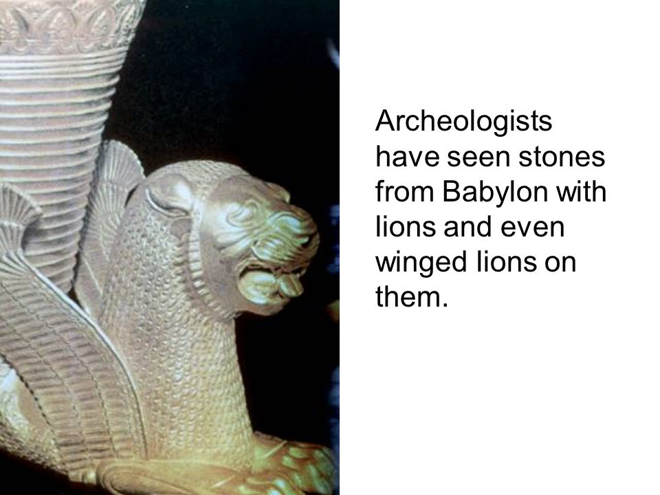 Archeologists have seen stones from Babylon with lions and even winged lions on them.