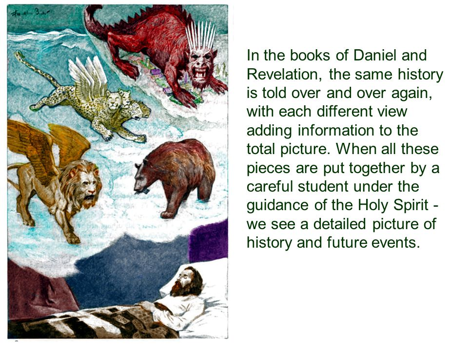 In the books of Daniel and Revelation, the same history is told over and over again, with each different view adding information to the total picture.