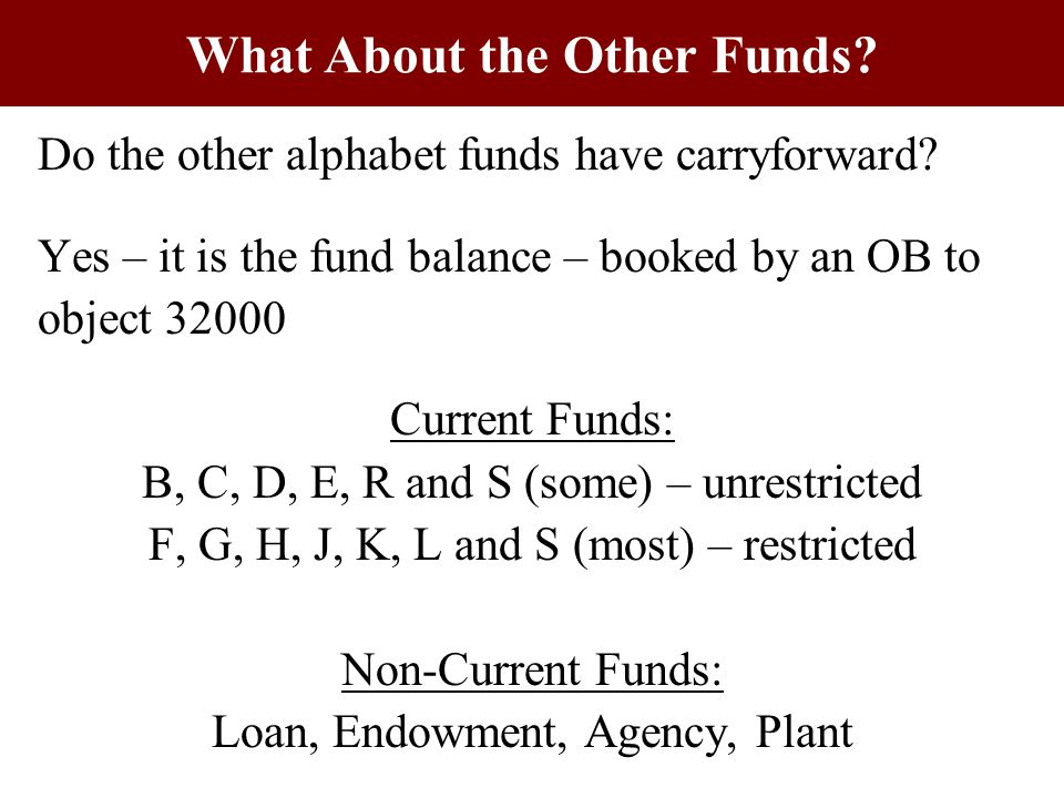 Do the other alphabet funds have carryforward.