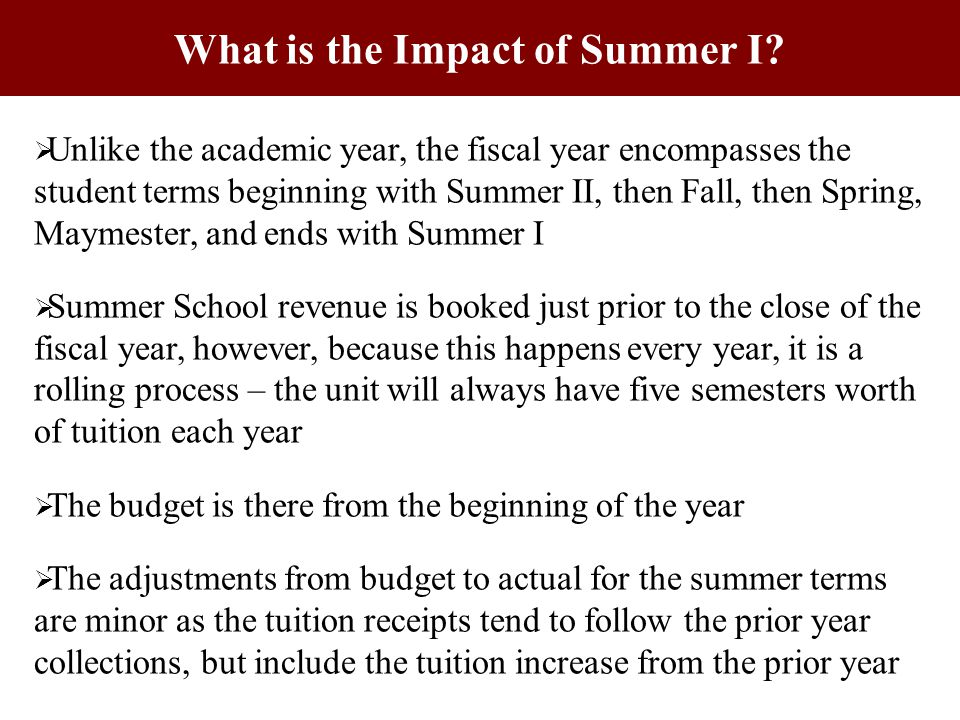 What is the Impact of Summer I.