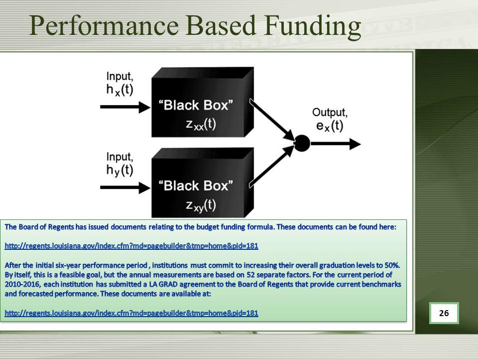 Performance Based Funding 26