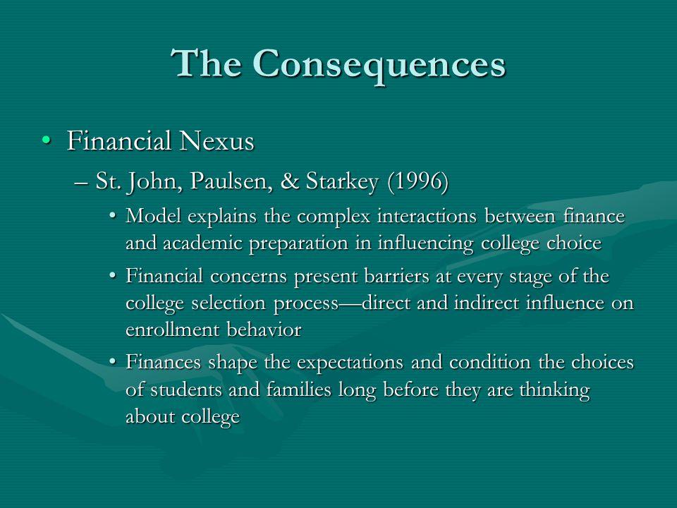 The Consequences Financial NexusFinancial Nexus –St.