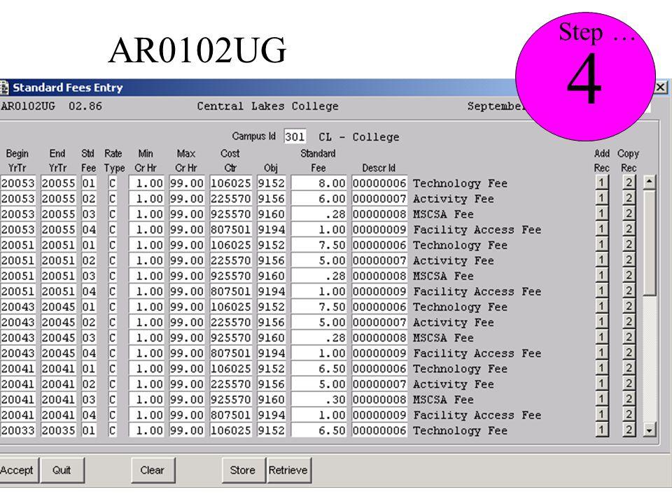 AR0102UG 4 Step …