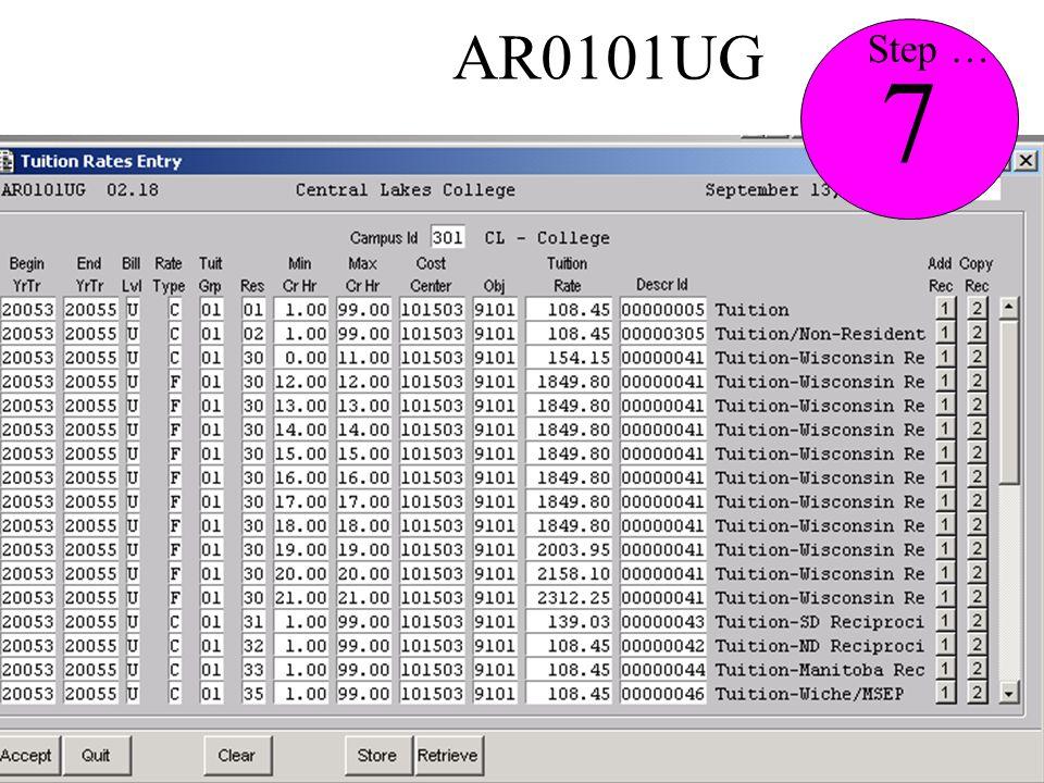 AR0101UG 7 Step …