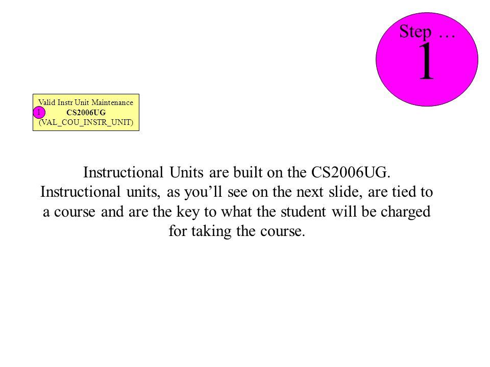 CS2006UG CT_COU.INSTR_UNIT_TYPE 1 Step …