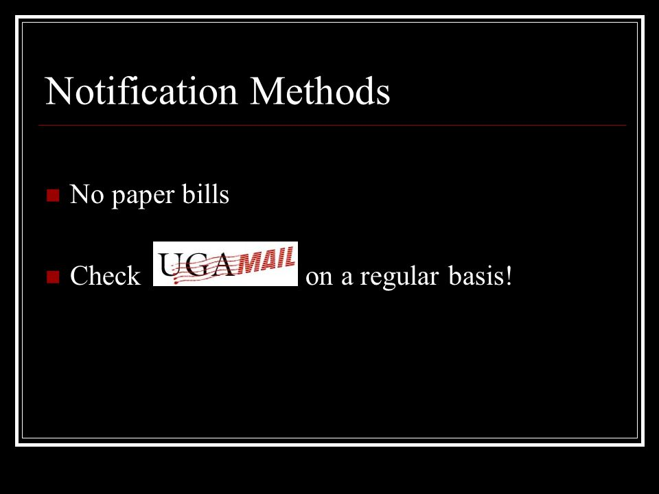 Student Account log in Access Student Account at www.bursar.uga.edu, the MyUGA portal or from your smart phone QR Code