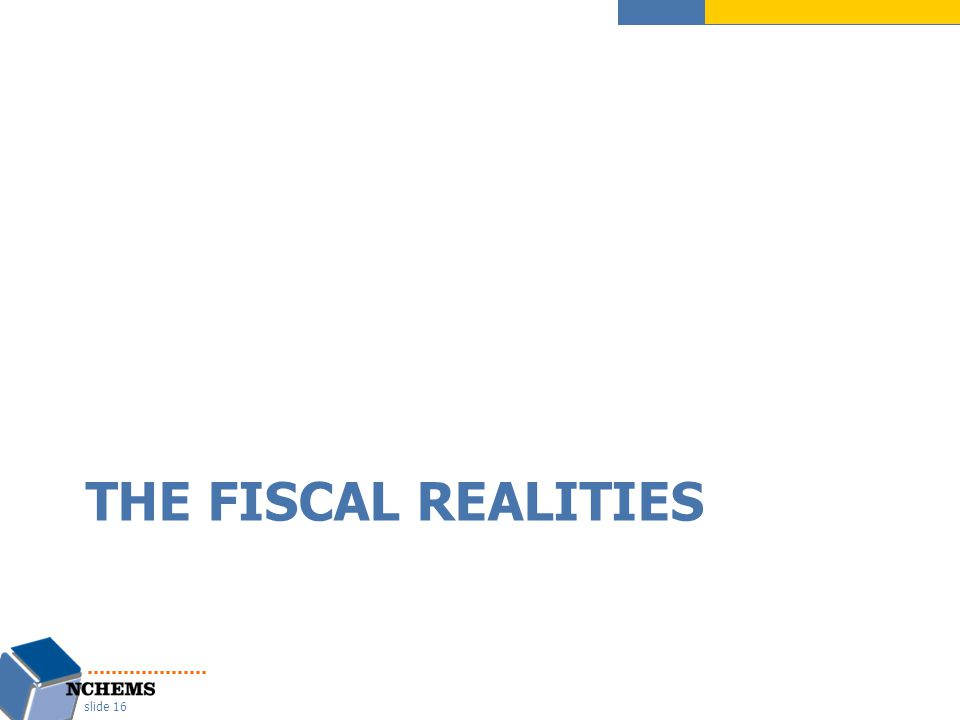 THE FISCAL REALITIES slide 16