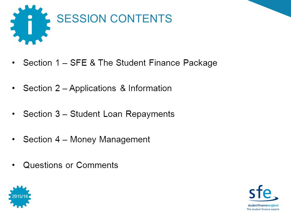 2015/16 SECTION 2 www.gov.uk/studentfinancesteps GOV.UK FOR THE INFORMATION YOU NEED