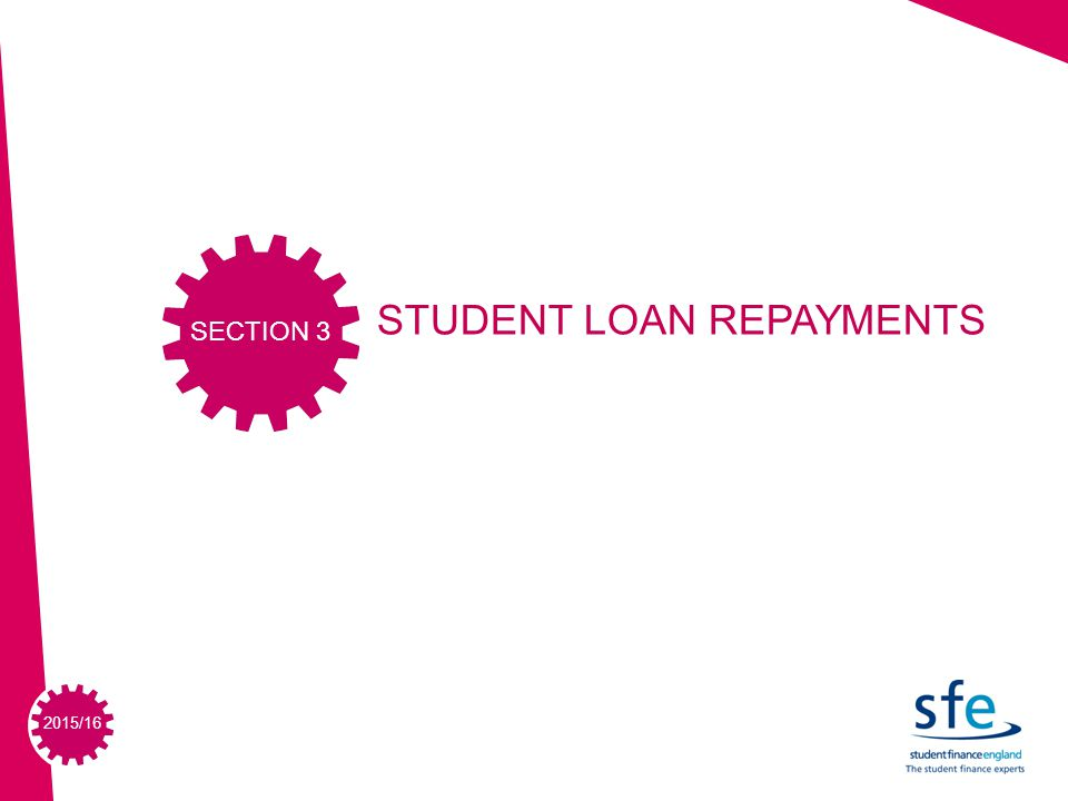 2015/16 STUDENT LOAN REPAYMENTS SECTION 3