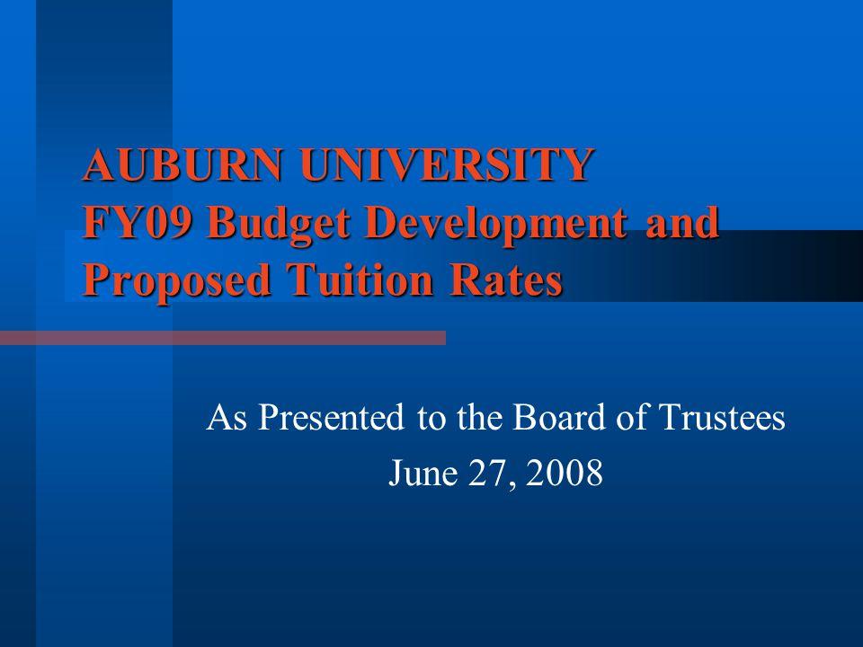 AUM Tuition - Graduate State of Alabama Public Senior Institutions Comparison Mean 12