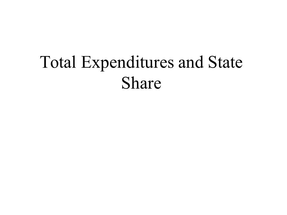 Total Expenditures and State Share