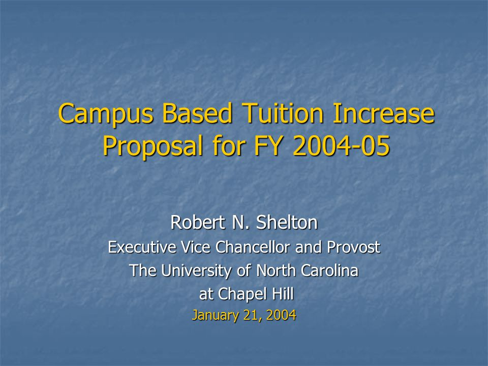 BOT Tuition Rate Philosophy Undergraduate tuition for North Carolina residents must remain affordable to ensure accessibility.