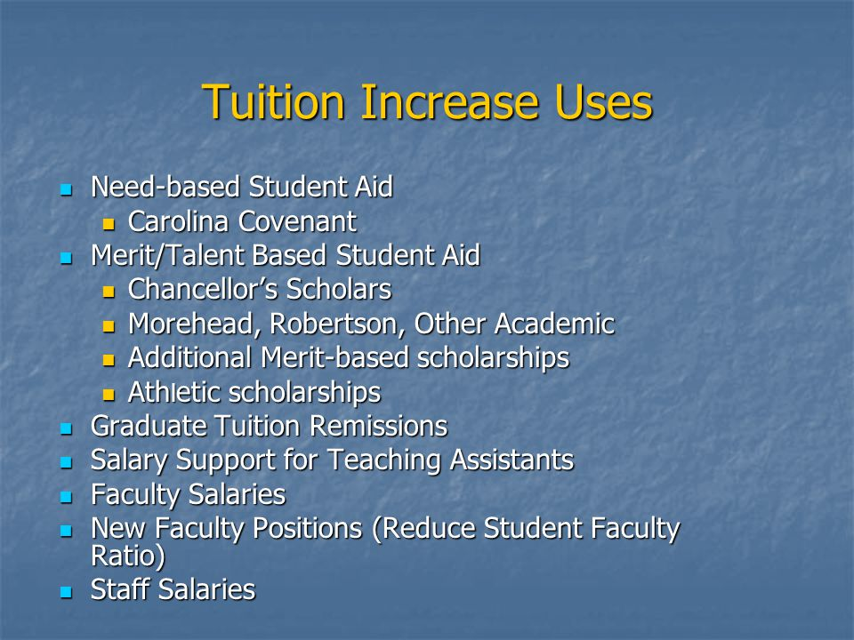 Cost of Education $15,230 = 2002-2003 Cost of College Analysis NACUBO Methodology $15,230 = 2002-2003 Cost of College Analysis NACUBO Methodology $15,626 = 2003-2004 Projected Cost Using HE Price Index (2.6%) $15,626 = 2003-2004 Projected Cost Using HE Price Index (2.6%) Tuition & Fees 2003-2004 Undergraduate Tuition Fees Total Undergraduate Tuition Fees Total Resident $ 2,955 $1,117 $ 4,072 Resident $ 2,955 $1,117 $ 4,072 Non Resident $14,803 $1,117 $15,920 Non Resident $14,803 $1,117 $15,920 Graduate Graduate Resident $ 3,163 $1,106 $ 4,269 Resident $ 3,163 $1,106 $ 4,269 Non Resident $15,161 $1,106 $16,267 Non Resident $15,161 $1,106 $16,267