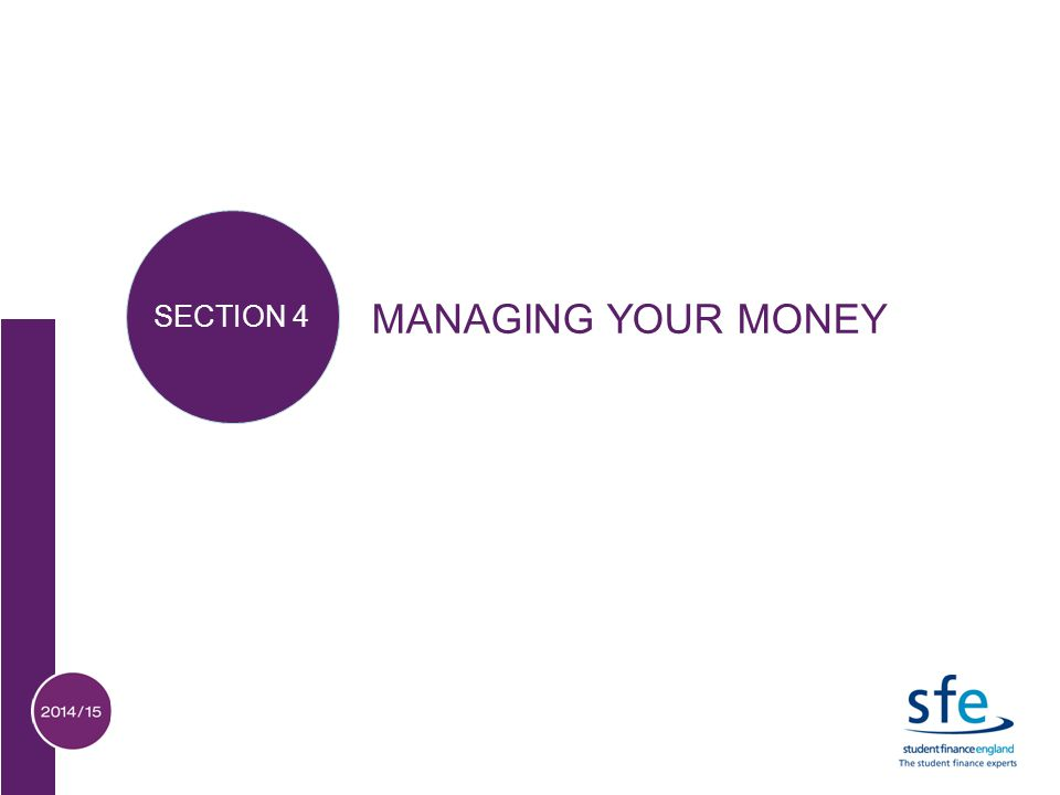 MANAGING YOUR MONEY SECTION 4