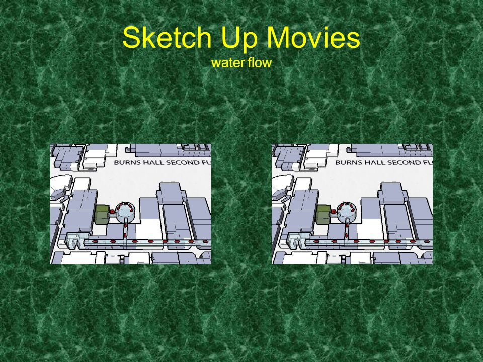 Sketch Up Movies water flow