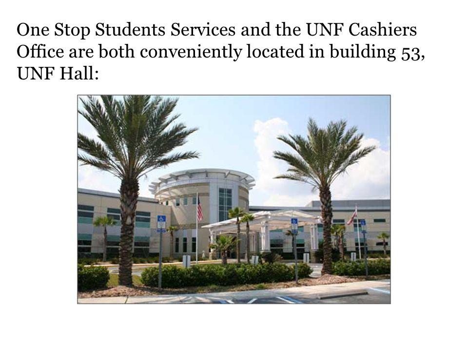 UNF Hall (building 53) is located ¼ mile north of Alumni drive on Kernan Boulevard.