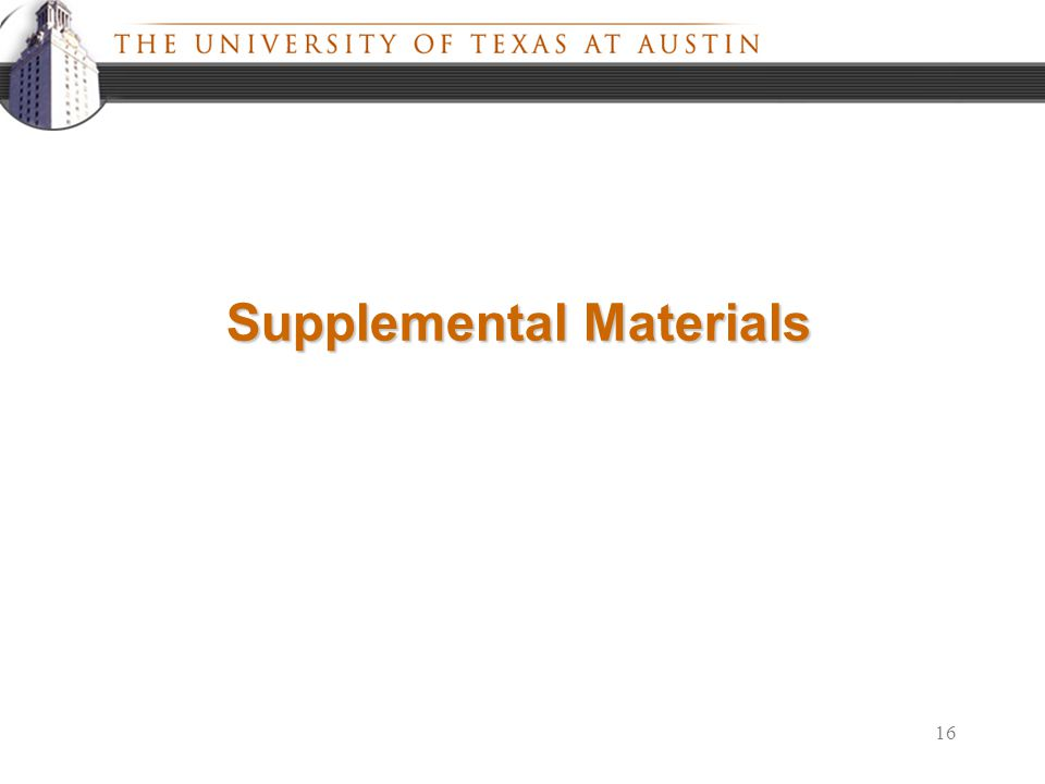 16 Supplemental Materials