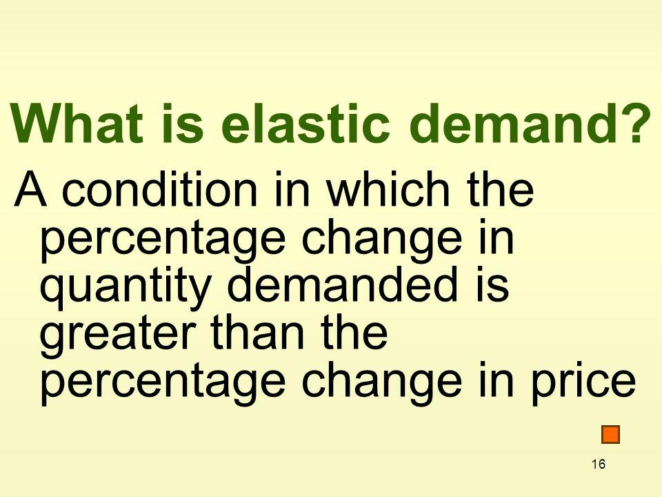 16 What is elastic demand.