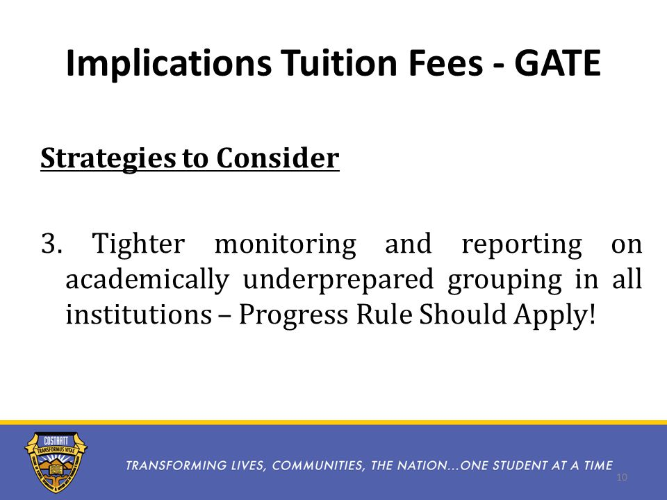 Implications Tuition Fees - GATE Strategies to Consider 3.