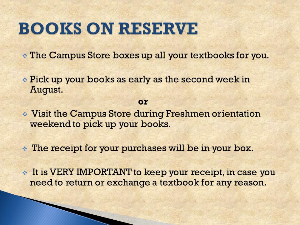  Fall textbooks available online- around June 15th  Used books, and Rental Books are first come-first served  Go to the Neumann University website