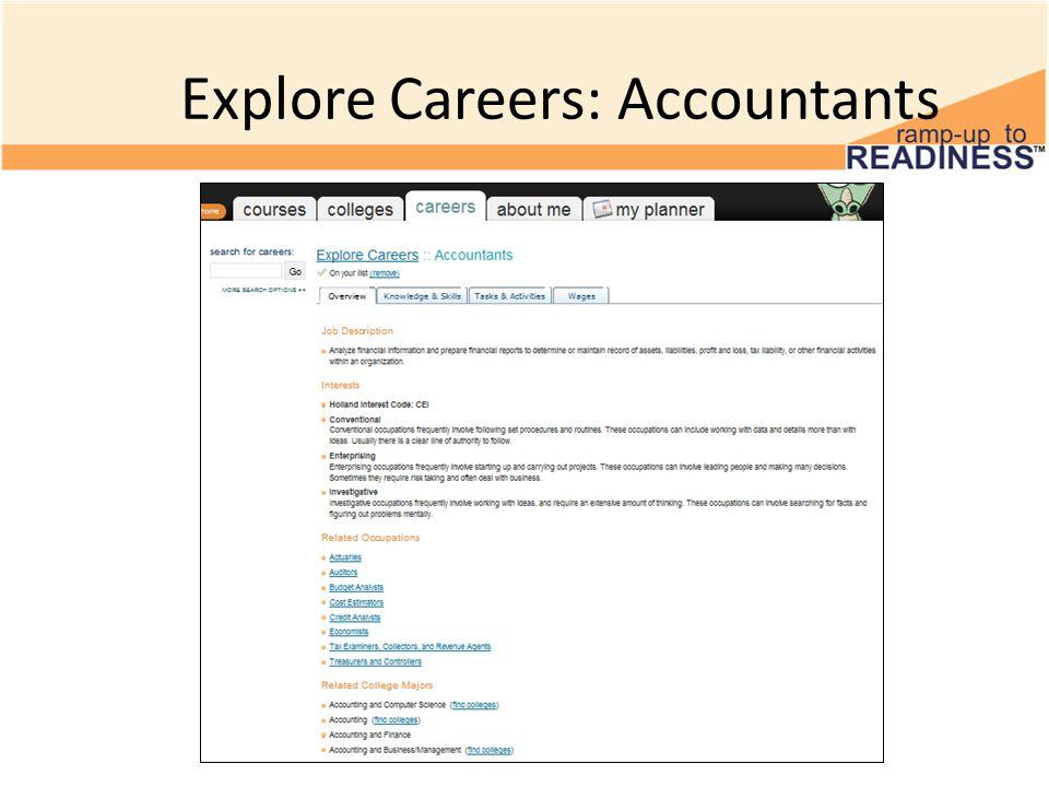 Explore Careers: Accountants