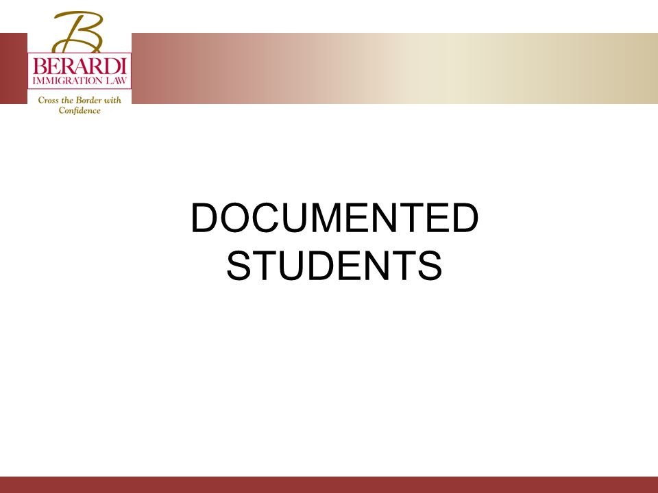DOCUMENTED STUDENTS