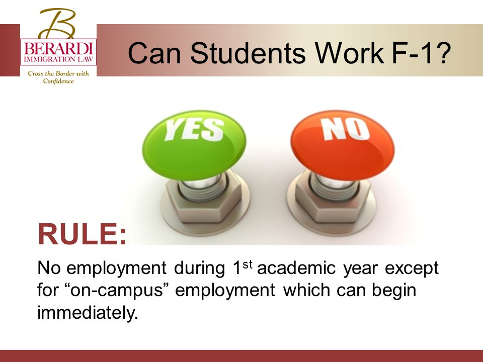 Can Students Work F-1.