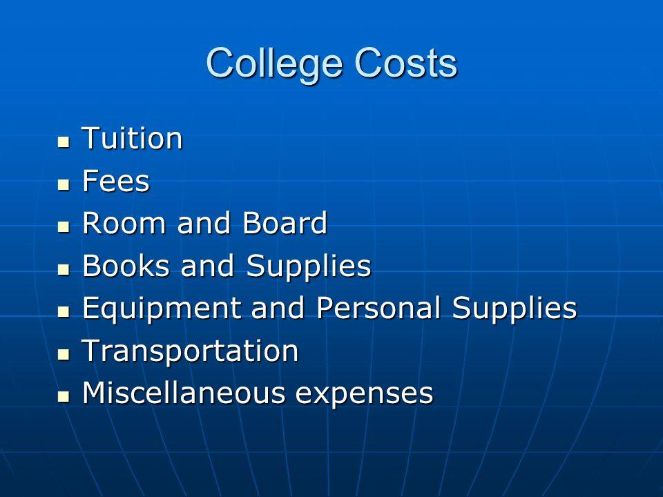 Local Community College (per year) $ 1,380 tuition per year/15 units $ 1,380 tuition per year/15 units ($46.00 per unit) ($46.00 per unit) $ 60 fees (activity fee, health fee) $ 60 fees (activity fee, health fee) $ 1,700 books $ 1,700 books $ 3,040 Total Per Year (+ parking) $ 3,040 Total Per Year (+ parking) (approximately) (approximately)
