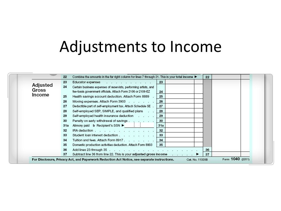 Adjustments to Income