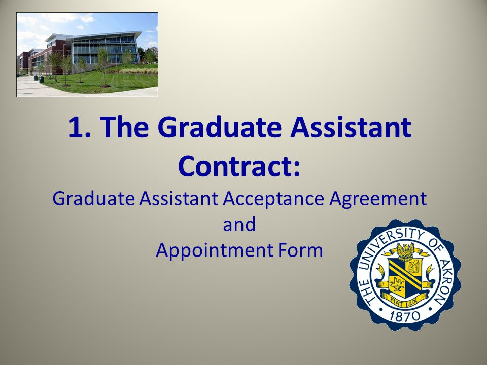 Full or Partial Graduate Assistant Contract: Full Graduate Assistantship Requires 20 work hours per week.