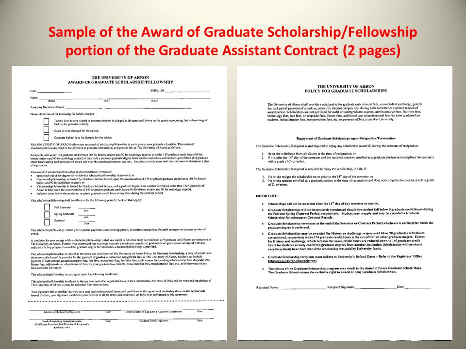 Sample of the Stand Alone Graduate Scholarship (2 pages only)