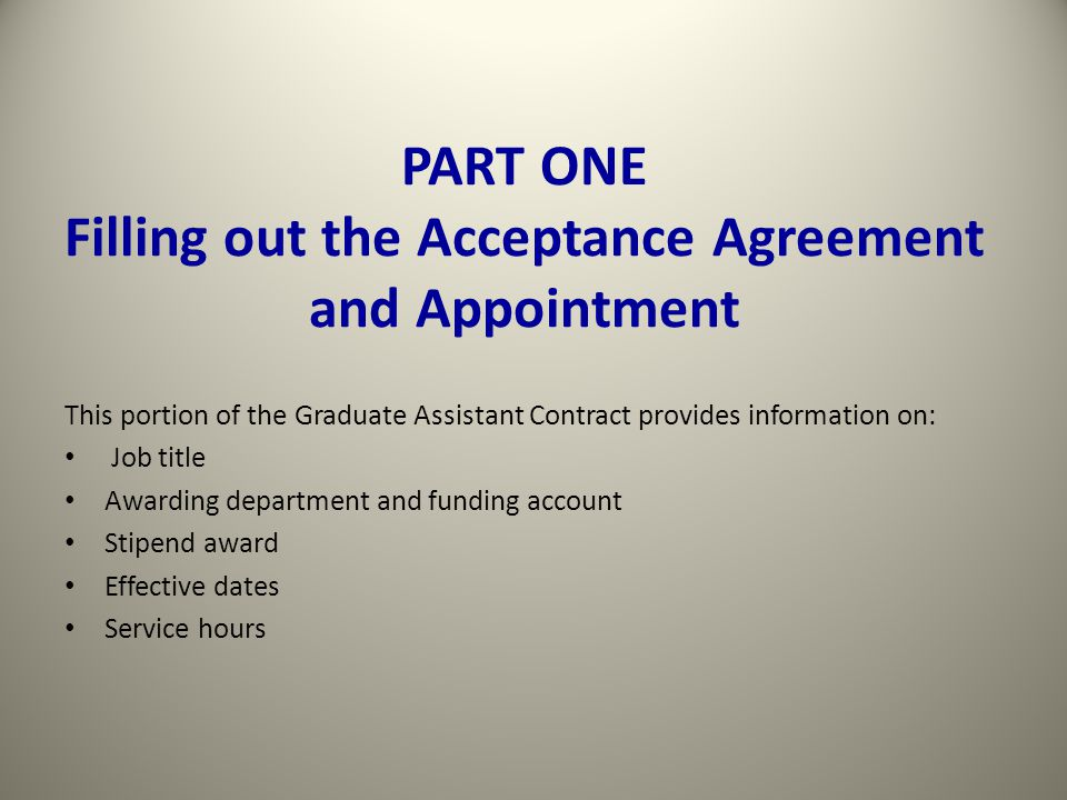 3. Supplemental / One-Time Payment Contract