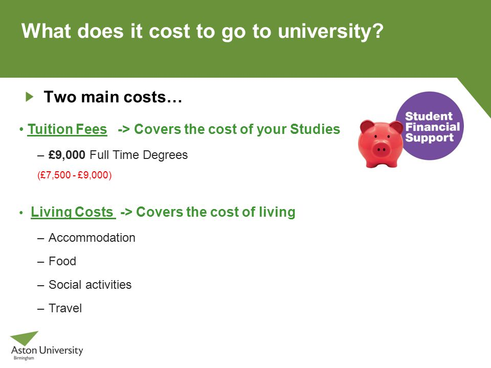 What does it cost to go to university.