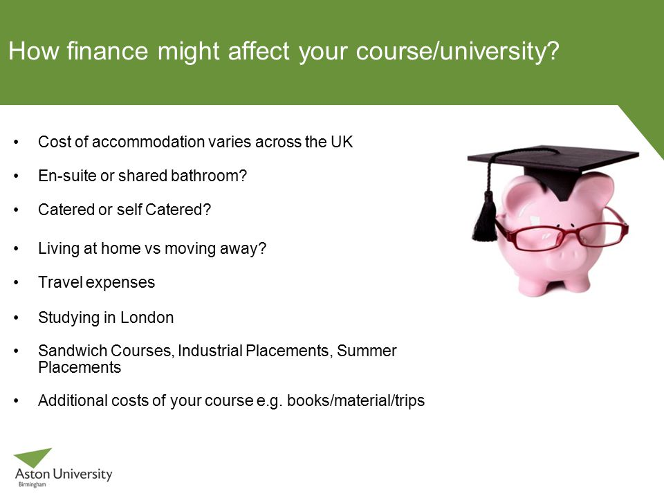 How finance might affect your course/university.