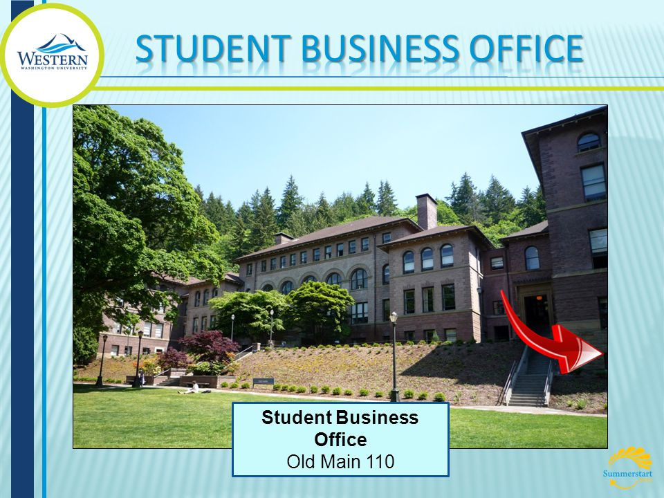 Student Business Office Old Main 110