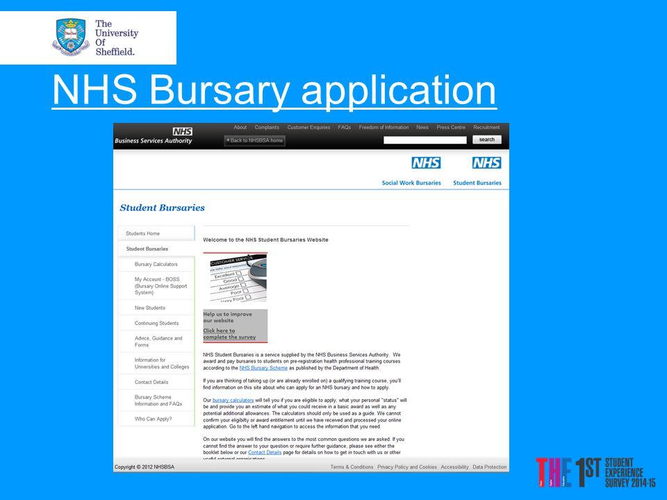 NHS Bursary application